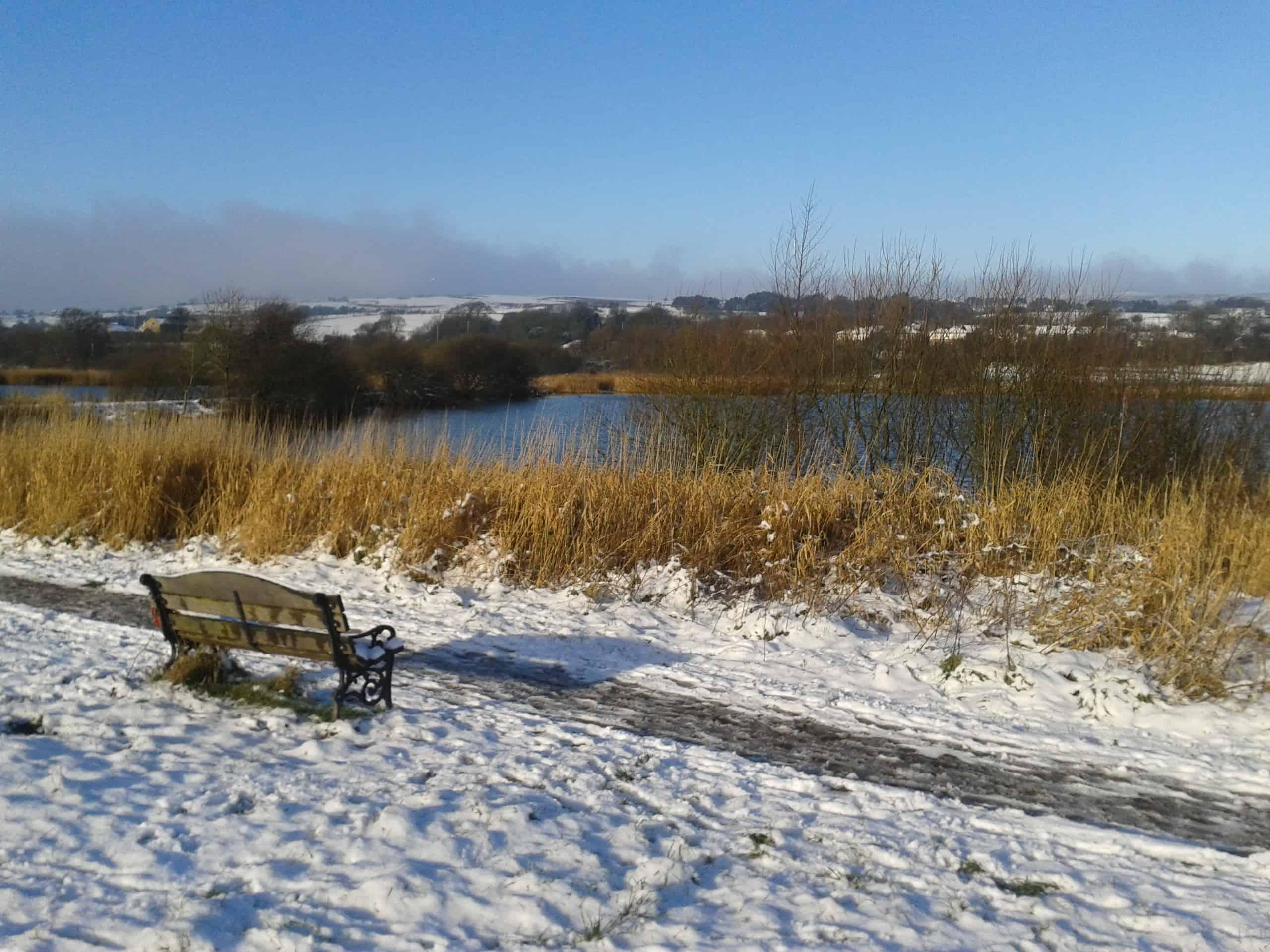 Lago inglés en invierno