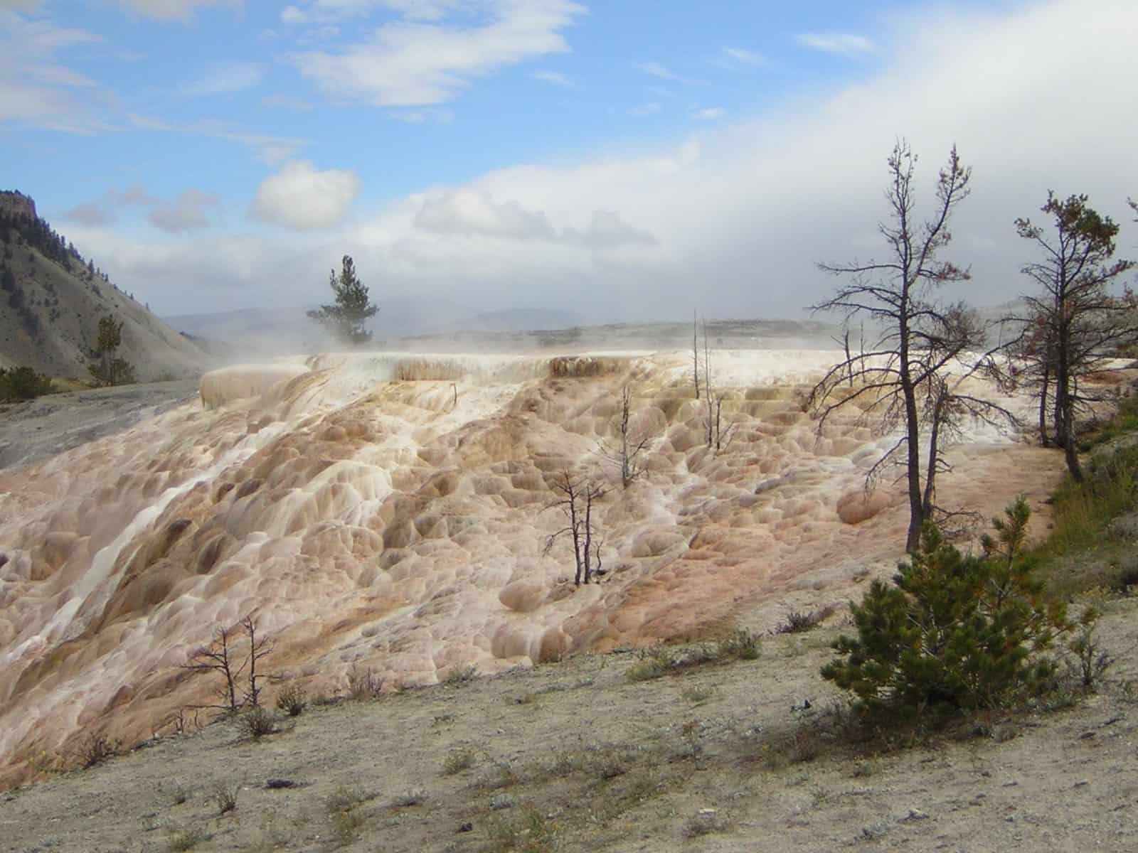 Montaña árida Yellowstone