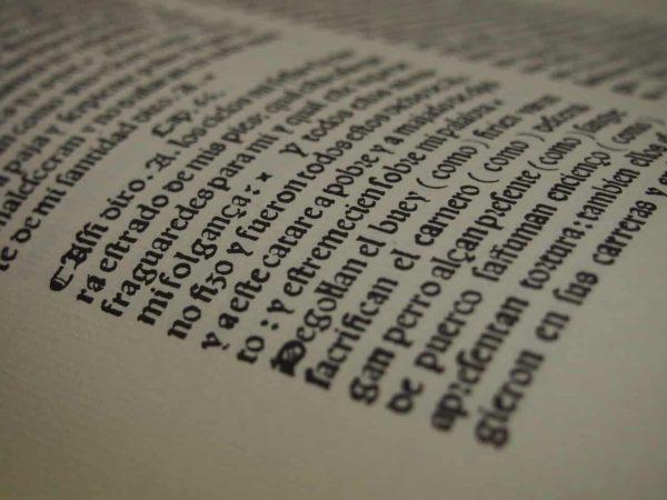 Fragmento de página de la biblia