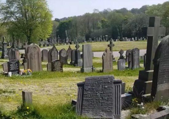 Tumbas en Cementerio de Inglaterra